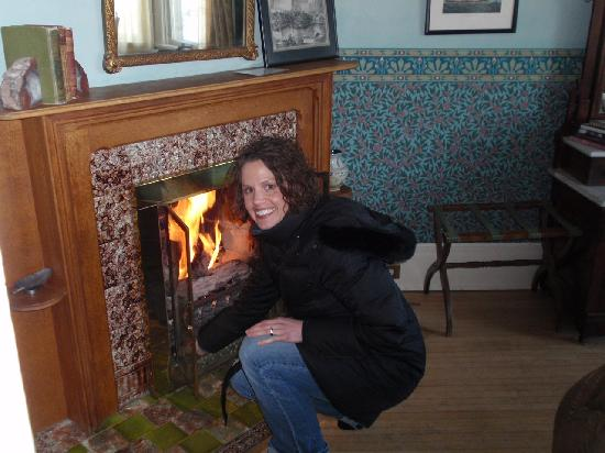 The Ellery House: working fireplace -- great ambience!