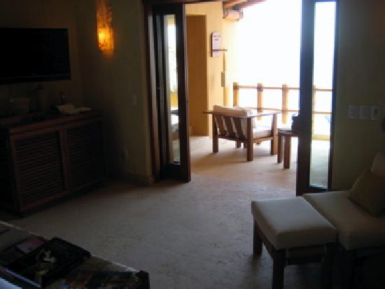 Capella Ixtapa: View from inside the room