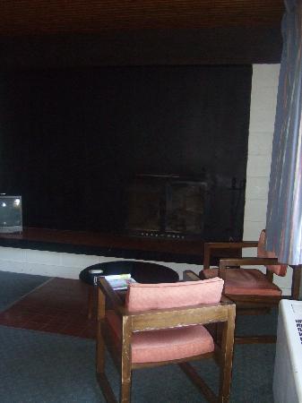 Auberge Mont-Habitant : Fireplace area