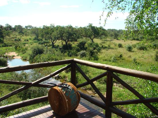 Lukimbi Safari Lodge: The view from the dining room
