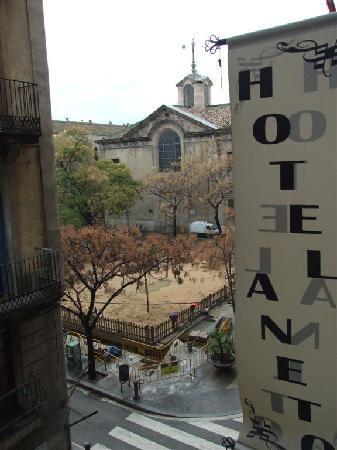 Hotel Aneto: view from the room