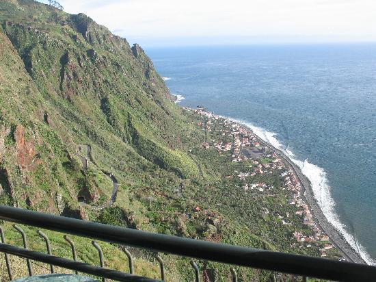 Vila Mia: Blick vom Balkon, Abendstimmung