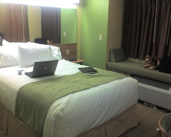 Microtel Inn & Suites by Wyndham Delphos: Bed and window seat
