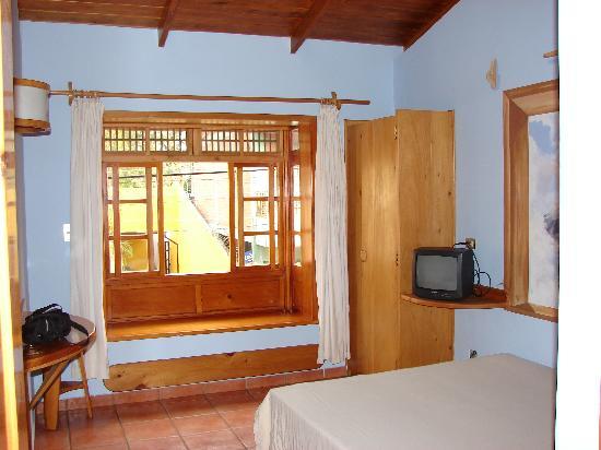 Hotel Primavera: Room #5, window opens on main street