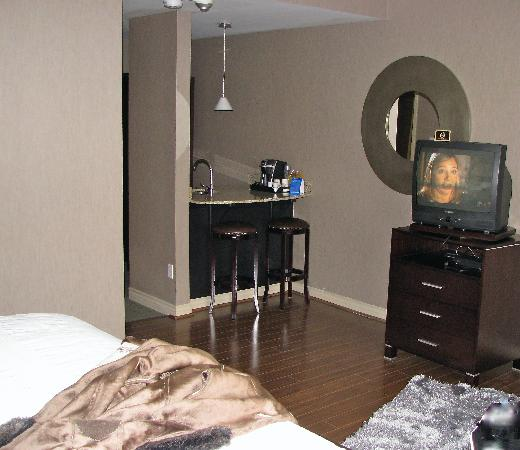 Oakville, Canadá: PART OF THE ROOM WITH TV
