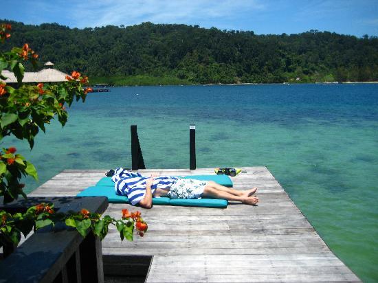 Gayana Eco Resort: Ocean villa deck