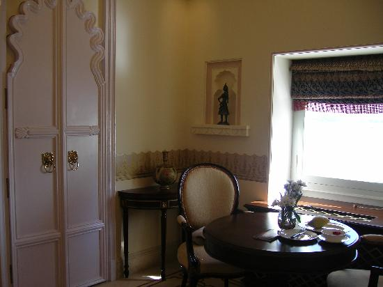 Taj Lake Palace Udaipur : Our little dining area