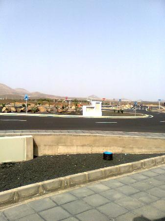La Laguneta Apartments: new road layout in front apartments