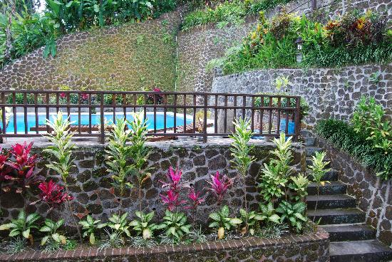 Villa Indah Ubud: view of pool from private balcony