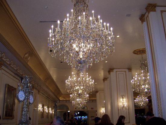 Crystal chandeliers in lobby very pretty picture of paris las paris las vegas crystal chandeliers in lobby very pretty mozeypictures