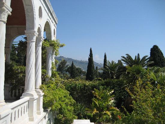 Giardini Botanici Hanbury: view from the villa