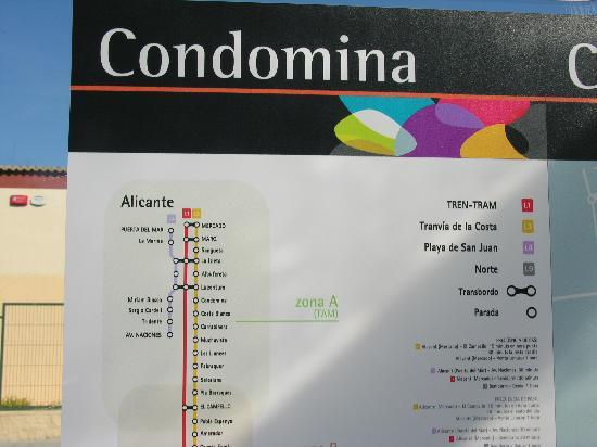 Hotel Alicante Golf: Tranvia Haltestelle Condomina