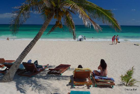Hotel CalaLuna Tulum: La plage de La Conchita