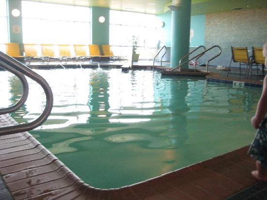 Springhill Suites Virginia Beach Oceanfront Indoor Pool Hot Tub Off To Right
