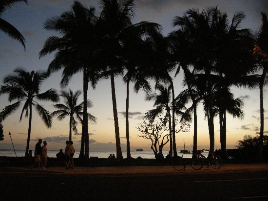 Seaside Hawaiian Hostel: Waikiki Beach: A six minute walk from 419 Seaside!