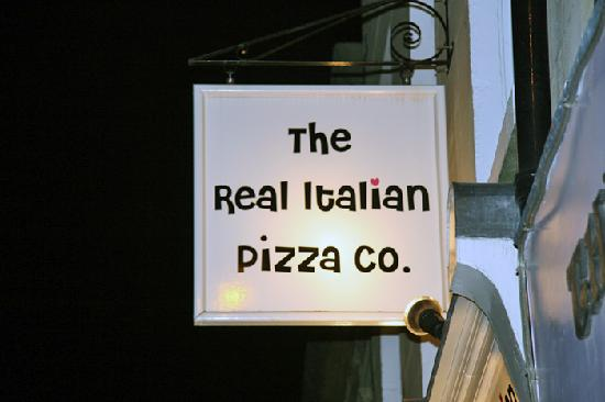 Store Front Sign Picture Of The Real Italian Pizza Co