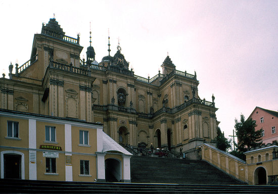 Klodzko, Polen: The pilgrimage church at Wambierzyce