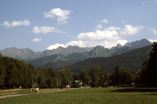 södra Polen, Polen: The Tatra mountains near Zakopane