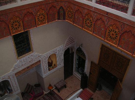 Riad Safir: le pation vu de l'étage