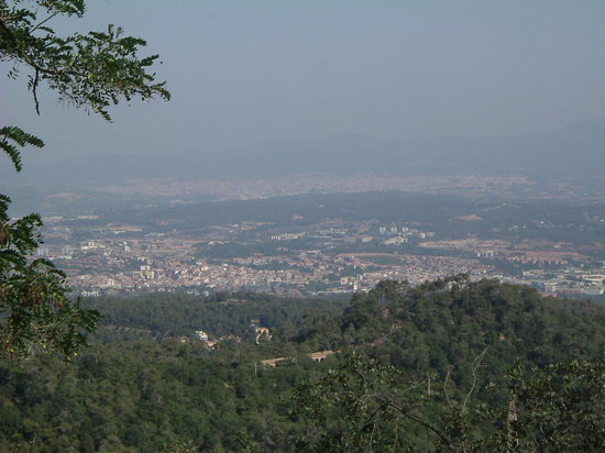 Sant Cugat del Valles, Spain: View towards Sant Cugat from Tibidabo