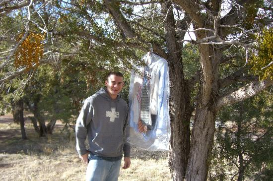 Turquoise Trail Campground And RV Park: The clothes we nearly left.