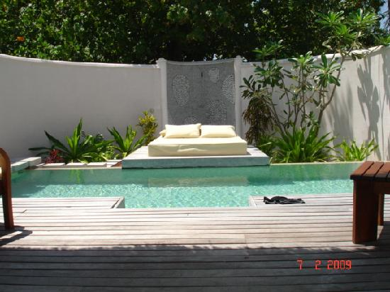 Coco Bodu Hithi Privat Swimming Pool In Each Beach Villa