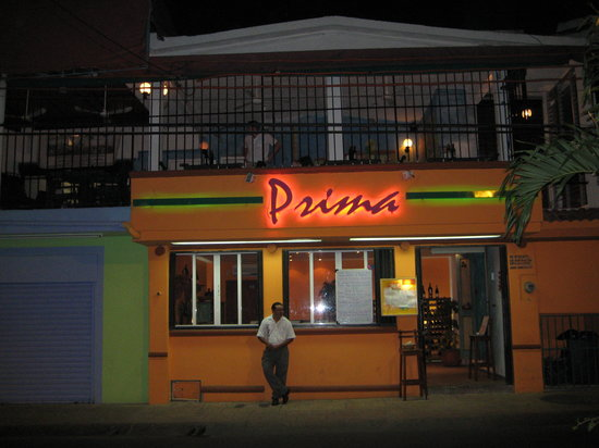 Prima Trattoria: Out front of Prima @ Night