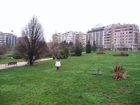 Abba Reino de Navarra Hotel: 山口公園。後ろにホテル