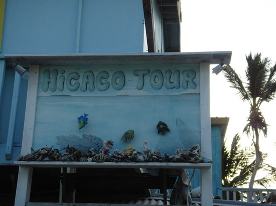 Caye Caulker, Belize: Hicaco Tours Sign