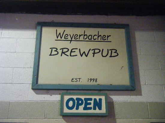 Weyerbacher Brewing Company: Another sign inside the brewery.