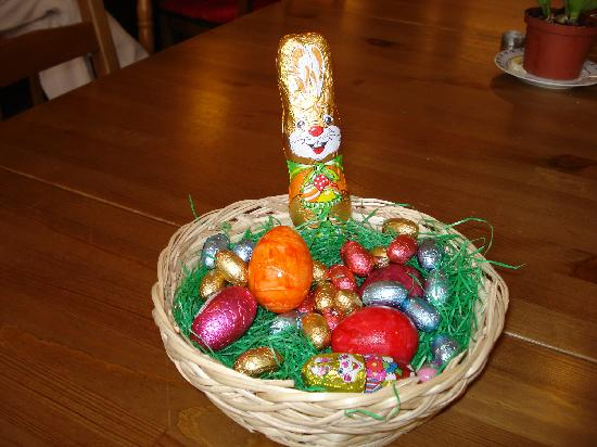 Townside Hostel Bremen: huevos de pascua en zonas comunes