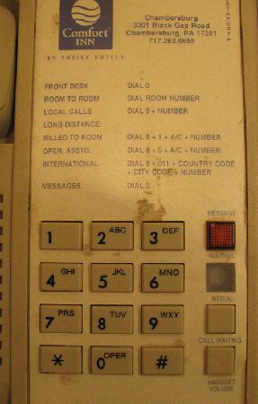 Comfort Inn: Dirty Telephone