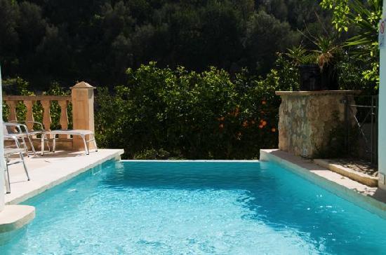 Fornalutx Petit Hotel: Piscina integrada en la naturaleza