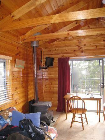 Lumera Chalets: 12-volt TV and wood heater