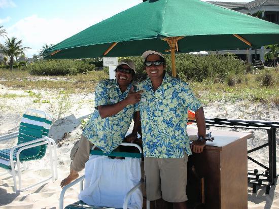 The Sands at Grace Bay: Eduardo & Adrian the friendliest beach staff ever!