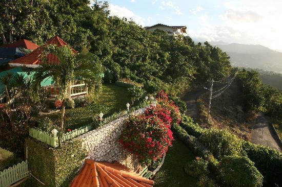 City View Hotel: View of gardens from balcony