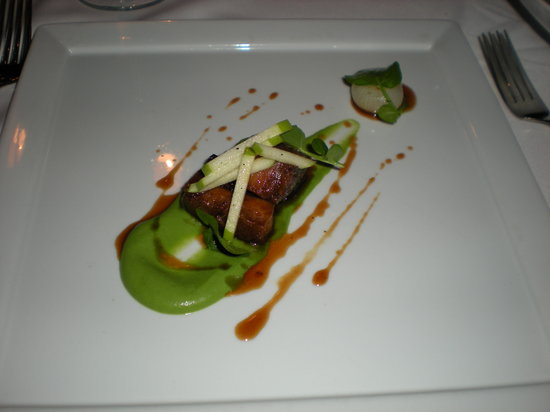 Larkspur: Roasted Pork Belly Appetizer....The absolute best