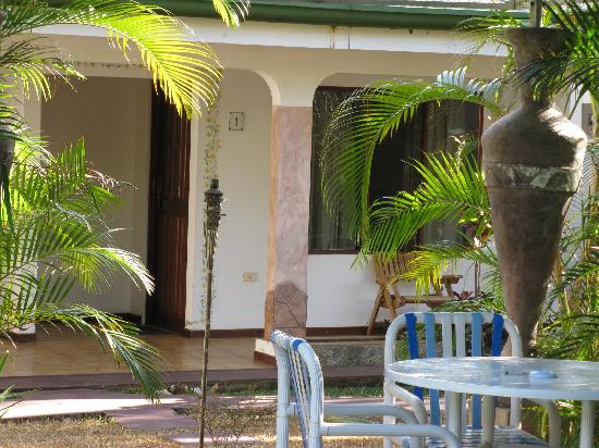 Hotel La Rosa de America: our room entrance just a few feet from the pool