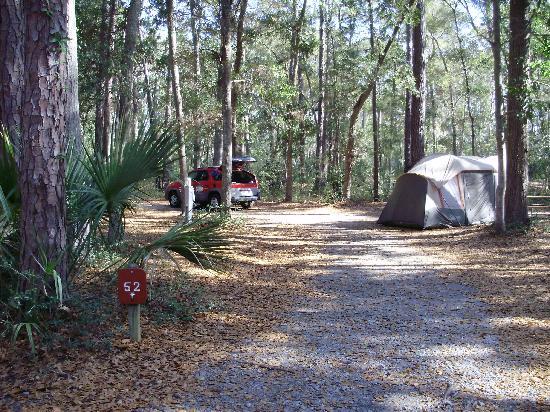 Fort McAllister State Historic Park Campground: Spot 52 at Fort McAllister