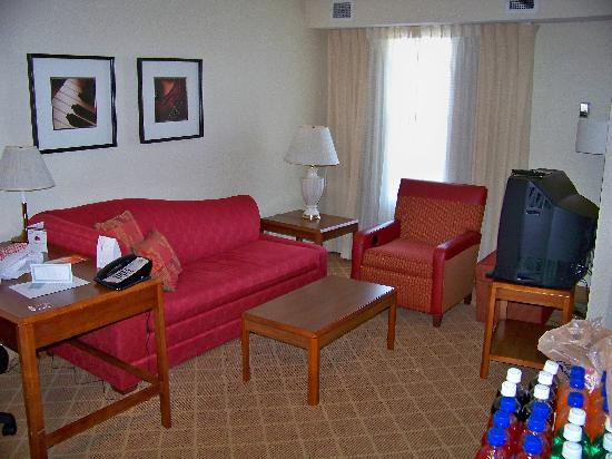 Residence Inn Indianapolis Airport: Comfortable living area