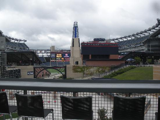 Cbs Scene Restaurant And Bar Gillette Stadium From The Patio