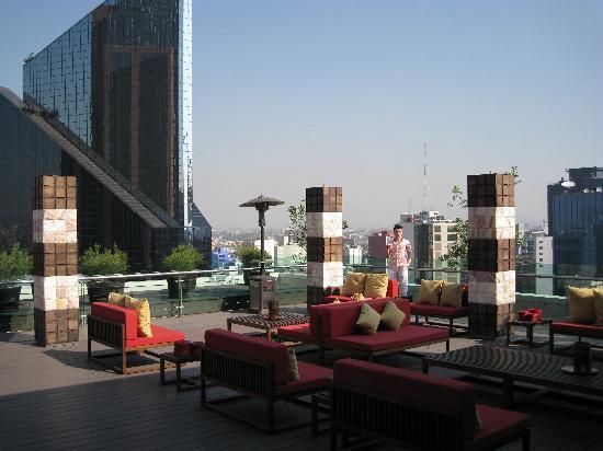 Mexico City Marriott Reforma Hotel Club Lounge Terrace