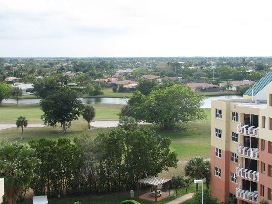 Vacation Village at Bonaventure: view of golf course from balcony