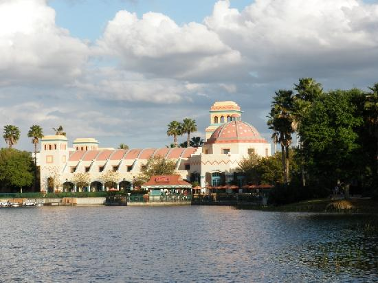 Disney's Coronado Springs Resort: The Main Building from across the Lagoon