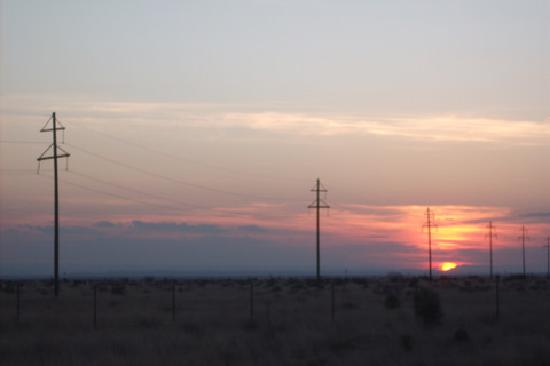 The Marfa Mystery Lights: sunset
