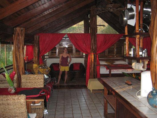 The Red Palm Villas: The upstairs area