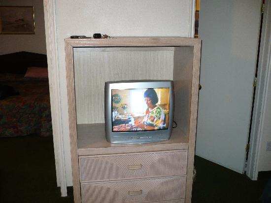 "Sun Time Inn: Our ""big screen"" TV"