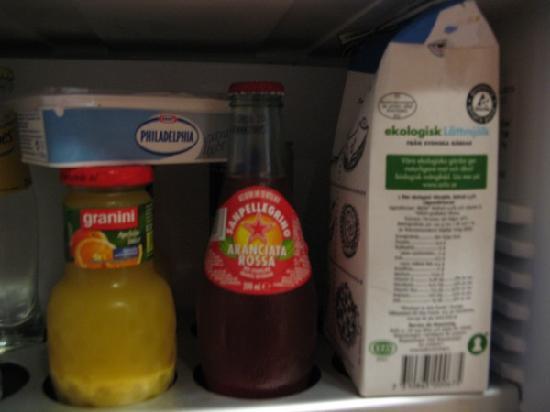 Sheraton Stockholm Hotel : Leftover food in the fridge