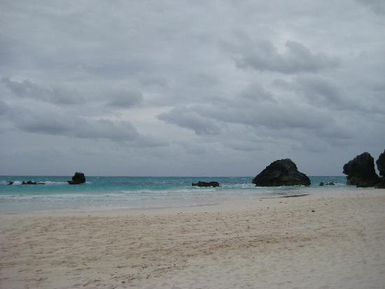 Horseshoe Bay Beach: Cloudy but still pretty!