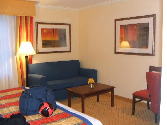 TownePlace Suites Houston North/Shenandoah: Small fold out love seat
